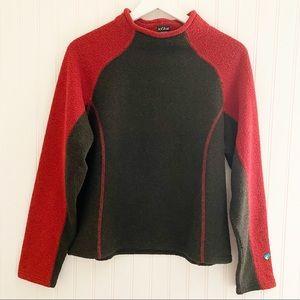 KUHL alfpaca fleece mockneck pullover sweater size large